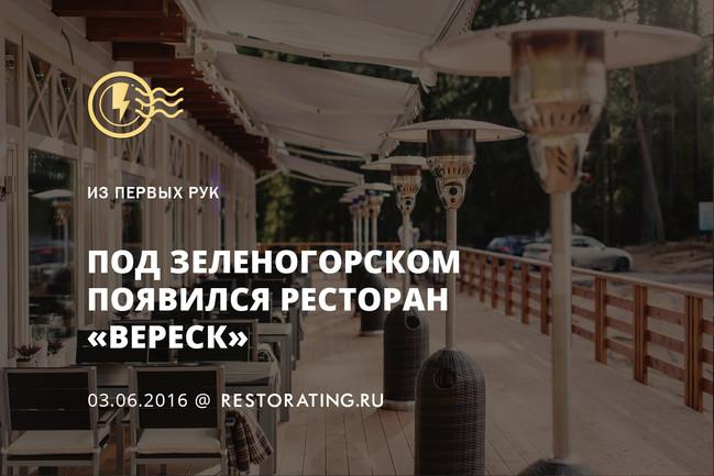 Под Зеленогорском появился ресторан «Вереск»
