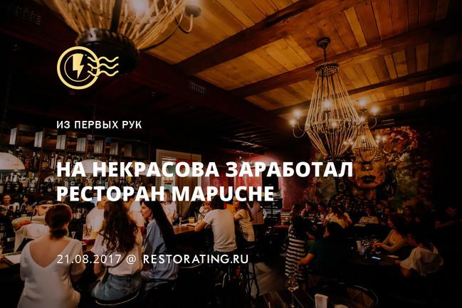 На Некрасова заработал ресторан Mapuche
