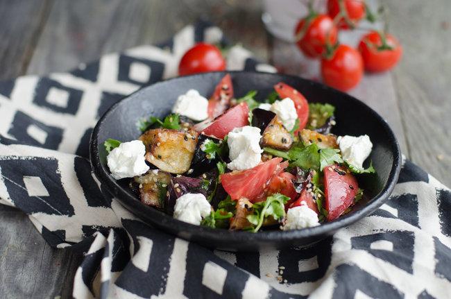 Чечил: Салат с хрустящими баклажанами