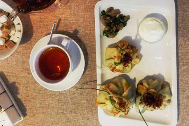 Mindal Cafe: Блинное меню