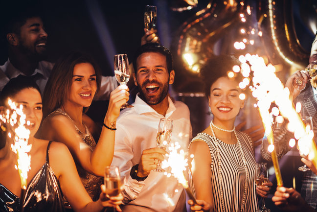 Баклажан: Новый год среди коллег