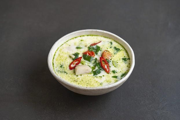 Ресторан «Банщики», Санкт-Петербург: Сливочный суп с кальмаром, нельмой и муксуном