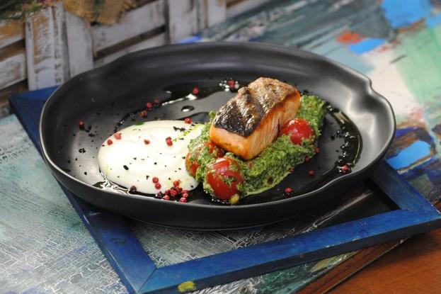 Ресторан «Вереск», Санкт-Петербург: Стейк из лосося